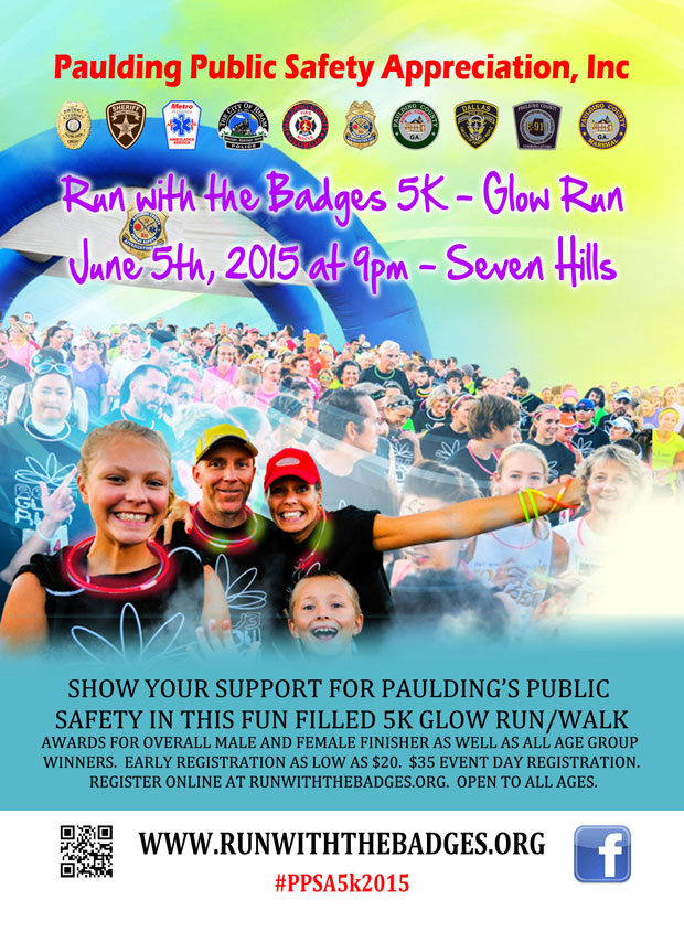 Run with the Badges 5K - 2015 - Glow Run