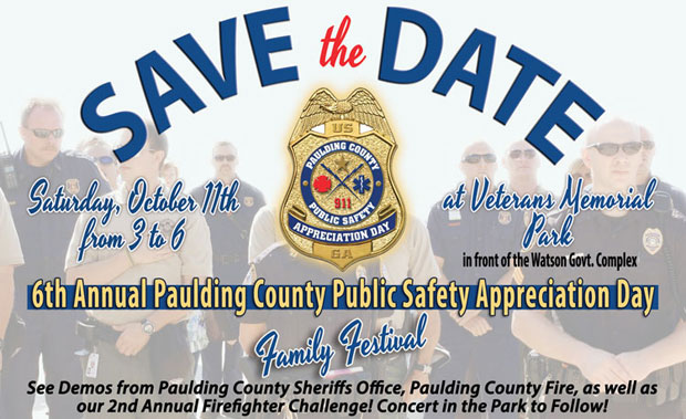 Paulding Public Safety Appreciation Day and Family Festival - Oct 11th, 3pm - 6pm